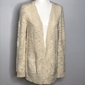 LC Lauren Conrad | Long Cardigan with Gold Details